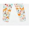 Dětské legíny lišky na louce detail nohavic