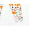 Dětské legíny lišky na louce detail nohavice2