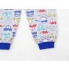 Dětské pyžamo auta a vrtulníky šedé detail krku