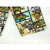 Dětské kraťasy bermudy dinosauři komiks detail nohavice