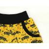 Dětské bermudy bagry na žluté detail kapsy