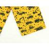 Dětské bermudy bagry na žluté detail nohavice