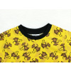 Dětské triko s krátkým rukávem opičky detail krku