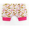Dětské kraťasy pumpky lišky na růžové detail nohavice