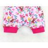 Dětské kraťasy pumpky srnky na růžové detail nohavic