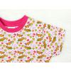 Dětské růžové triko Lišky a kytičky detail rukávu