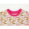 Dětské růžové triko Lišky a kytičky detail krku