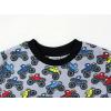 Dětské triko s dlouhým rukávem monster truck detail krku