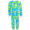 Dětské pyžamo s dlouhým rukávem krokodýli na tyrkysové