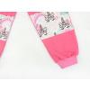 Dětské růžové tepláky s vysokým pasem jednorožci detail nohavic