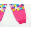 Dětské růžové tepláky s dvojitými koleny kočičky detail nohavice