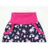 Dětské softshellové kalhoty jednorožci s fleecem detail pasu