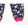 Dětské softshellové kalhoty jednorožci s fleecem detail nohavice