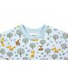Dětské triko s dlouhým rukávem Srnka a lišky detail krku