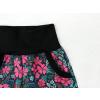 Dívčí letní softshellové kalhoty růžové květy detail kapsy