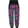 Dívčí letní softshellové kalhoty růžové květy