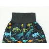 Chlapecké letní softshellové kalhoty dinosauři detail pasu