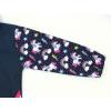 Dětská softshellová bunda jednorožci detail rukávu