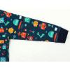 Dětské triko s dlouhým rukávem roboti detail rukávu