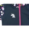 Dětská softshellová bunda jednorožci detail reflexního prvku