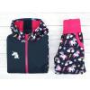 Dětská softshellová bunda jednorožci kombinace