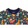 Dětské triko s dlouhým rukávem zvířátka detail krku