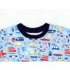 Dětské chlapecké pyžamo autíčka detail krku