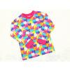 Dětské triko s dlohým rukávem barevné kočičky detail2