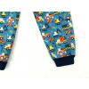 Dětské zimní softshellky Bagry detail nohavice