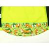 Dětská softshellová bunda lišky na hráškové detail zadního dílu2