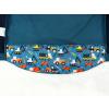 Dětská softshellová bunda bagry na petrolejové detail zadního dílu2