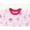 Dětská růová noční košilka baletky detail krku