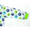 Dětské pyžamo s dlouhým rukávem příšerky na bílé detail rukávu