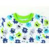Dětské pyžamo s dlouhým rukávem příšerky na bílé detail krku