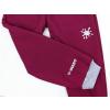 Dětské vínové zateplené softshellové kalhoty do gumy detail reflexních prvků2