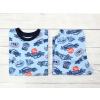 Dětské chlapecké pyžamo s dlouhým rukávem závodní auta na modré detail