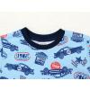 Dětské chlapecké pyžamo s dlouhým rukávem závodní auta na modré detail krku