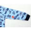 Dětské chlapecké pyžamo s dlouhým rukávem závodní auta na modré detail rukávu