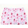Dětské dívčí pyžamo růžová srdíčka detail pasu