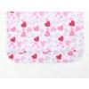 Dětské dívčí pyžamo růžová srdíčka detail zadního dílu1