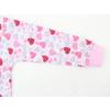 Dětské dívčí pyžamo růžová srdíčka detail rukávu