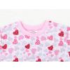 Dětské dívčí pyžamo růžová srdíčka detail krku