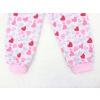 Dětské dívčí pyžamo růžová srdíčka detail nohavice