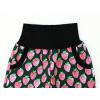 Dětské zateplené softshellové kalhoty jahody detail pasu