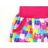 Dětské zateplené softshellové kalhoty barevné kočičky detail kapsy