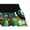 Dětské zateplené softshellové kalhoty dinosaři komiks detail kapsy