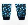 Dětské zateplené softshellové kalhoty kytičky tmavé detail nohavice