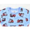 Dětské pyžamo hasiči na modré detail krku