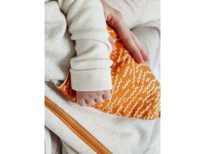 Zimný spací vak - horčicový (etické merino)
