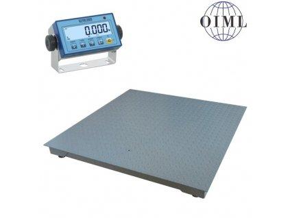 Podlahová váha 4T1010L-MB-DFWL do 300kg/100g rozměr 1000mmx1000mm